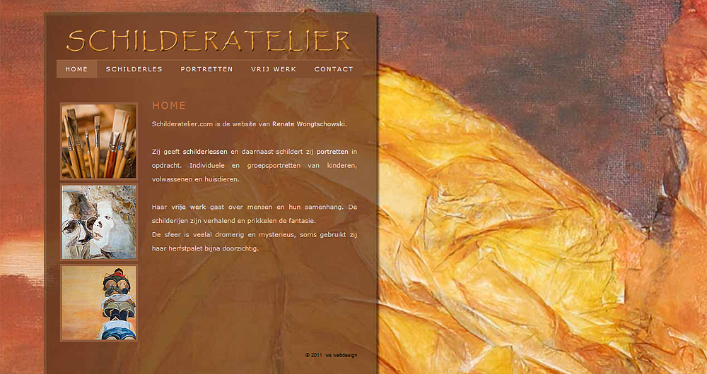 Schilderatelier.com, website van Renate Wongtschowski